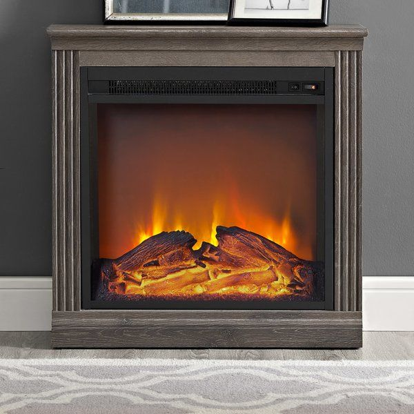Beachcrest Home Solvi Simple Electric Fireplace & Reviews | Wayfair
