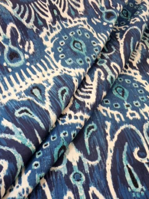Curtain Drape Image Of Duralee Exclusive Ikat Print