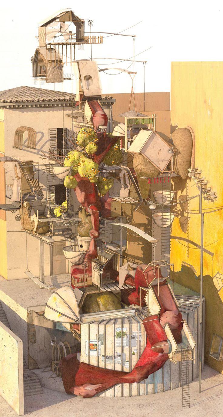 """zcfth48: """"архитектурно-обзор:"""" Ifigeneia Liangi: Этот компьютер изображения использует тонкий вечернее освещение и осенние цвета, чтобы подчеркнуть…"""
