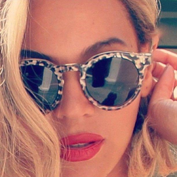 Beyonce In Illesteva Leonard Shades Glam Queen Celebs