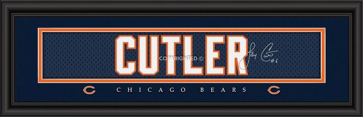 Chicago Bears Print 8x24 Signature Style Jay Cutler Special Order