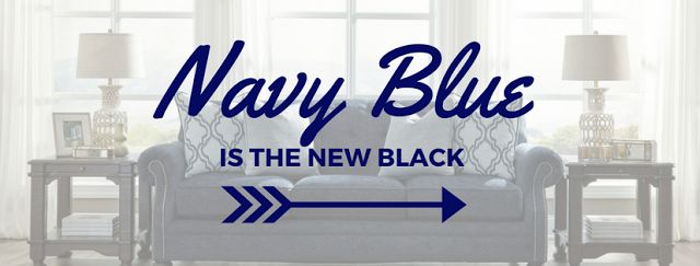Navy blue will soon be the preferred alternative to black. Whether your aim is to accent your #room or to paint your walls, navy blue will add a modern twist, while lending a #traditional feel to your #home. Read our blog to find out more.