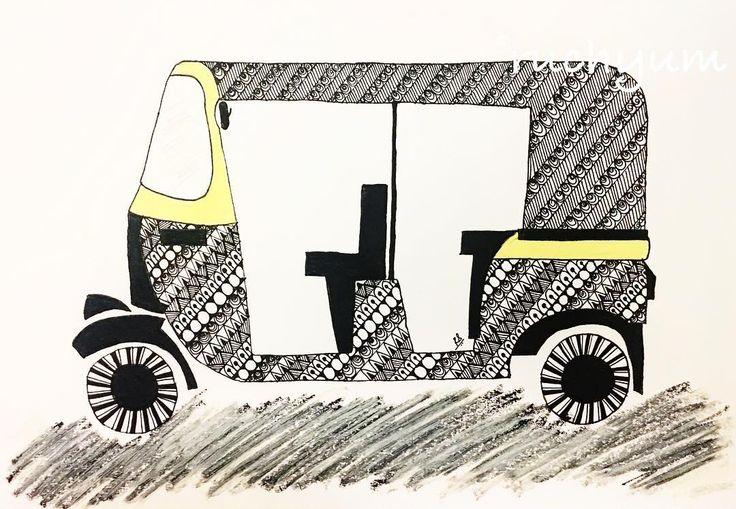 A Zentangle Auto Rickshaw! #ruchyum #ruchyumzentangles #autorickshaw #tuktuk #graphicdesign #design #graphic #tangles #tangled #tangleart #zendoodle #doodlesofinstagram #doodleart #potpourriofartists #mandalaslovers #blackandwhitephotography #blackandwhite #letstanglehere #artsofinstagram #artistsofinstagram #artwork #handmade #mumbai