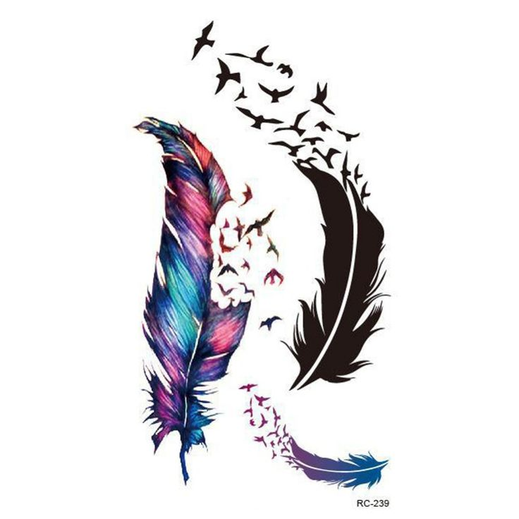 Trendy Charming Body Accessories Waterproof Small Fresh Wild Goose Feather Pattern Tattoo Stickers HB-0250