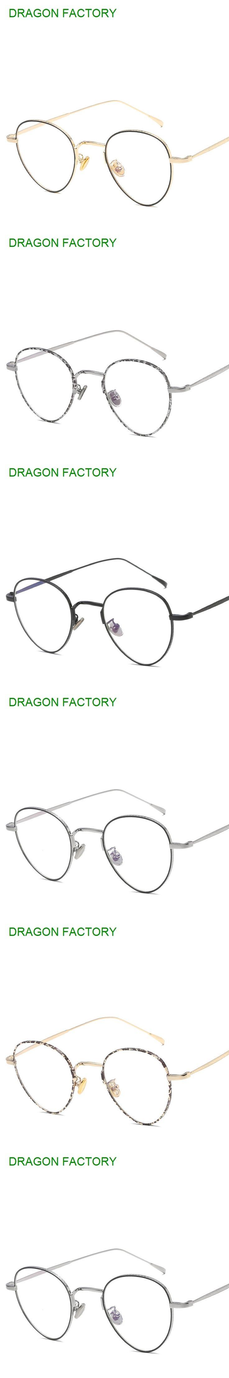 new metal flat mirror  for men and women  general female male glasses retro round designer glasses frame DZ0220