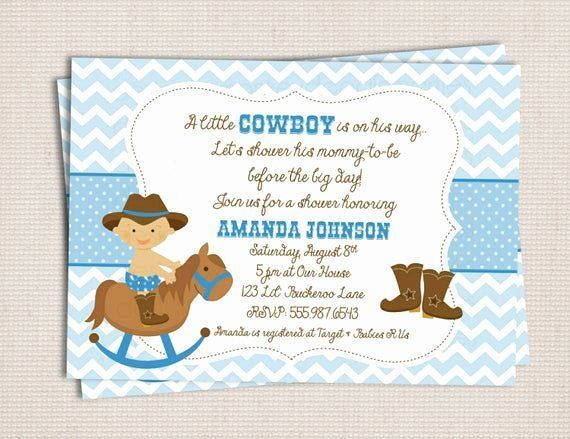 Western Baby Shower Invitation Template Baby Invitation Shower Temp Cowboy Baby Shower Invitations Cowboy Baby Shower Western Baby Shower Invitations