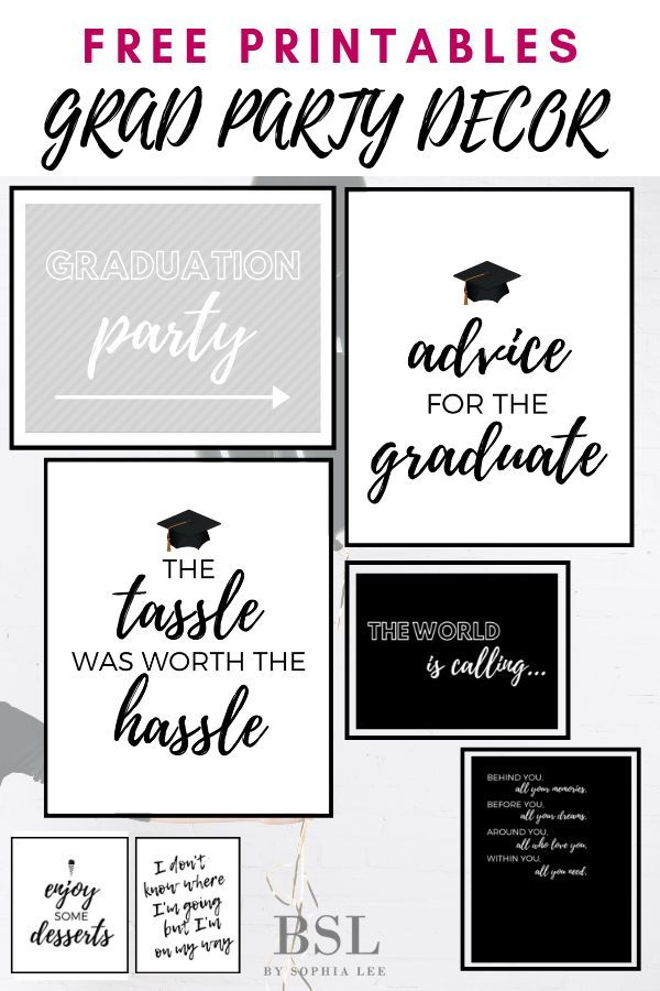 photograph regarding Free Graduation Printable named No cost Commencement Get together Printables Grad Get together Suggestions