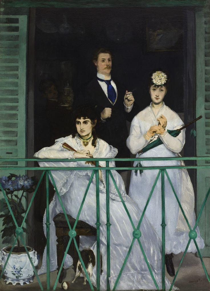 """""""Il balcone"""" 1868  Dimension: 170 x 124 cm  Musée d'Orsay, Parigi"""