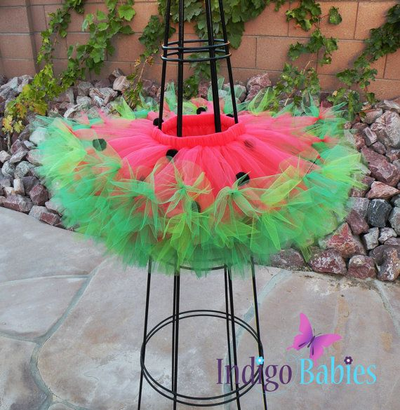 Tutu Girls Tutu Coral and Green Baby Tutu Toddler by indigobabies, $38.00