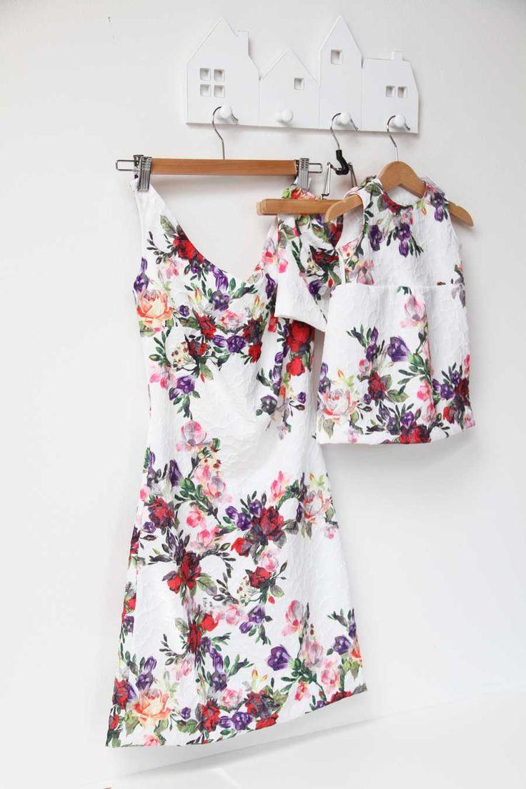 Ručně šité šaty na svatbu / Handmade sewed dress for mommy and baby daughter