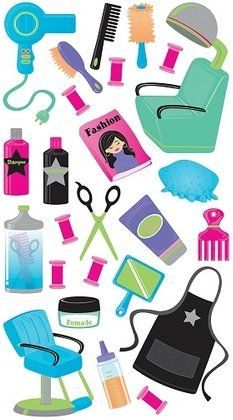 hairstylist+scrapbook | At The Hair Salon Stickers #7992 :: Other Stickers :: Scrapbooking ...
