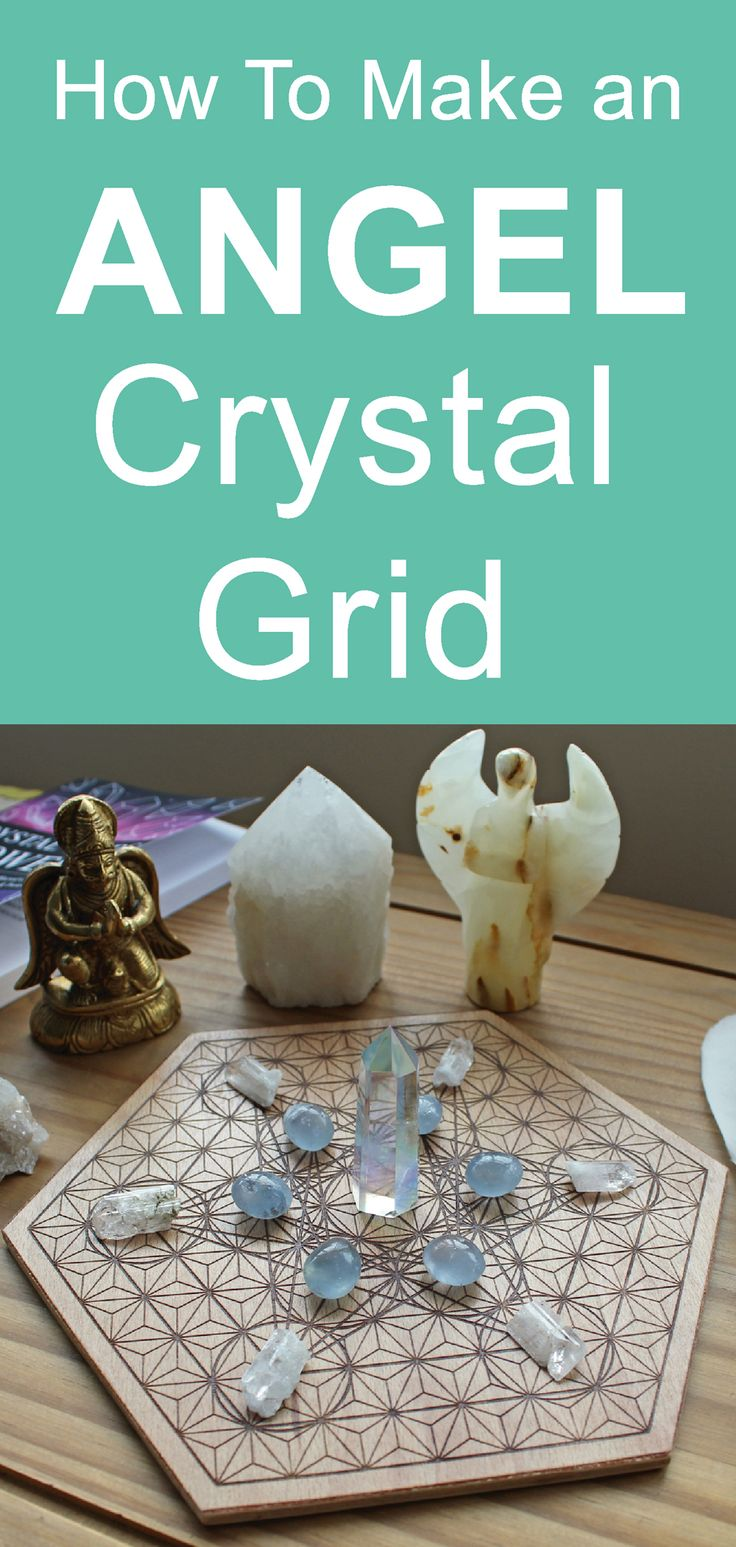 How to make an angel crystal grid for angelic communication and messages. #angeltherapy #lightworker