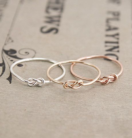 These infinity-knot midi rings are always a sold choice.