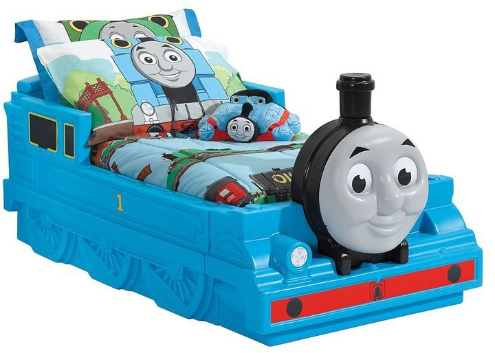 Step2 Thomas the Tank Engine Toddler Bed  Your little conductor will love getting on the express train to dreamland with this Thomas the Tank Engine toddler bed. In blue/multi. Gift Givers: This item ships in its original packaging. If intended as a gift, the packaging may reveal the contents.