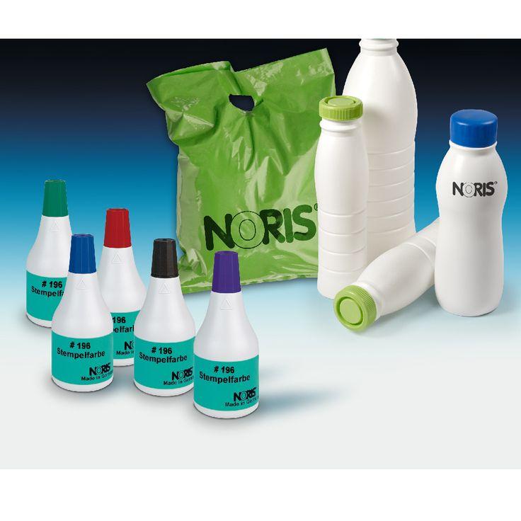 Noris 196. Sneldrogende inkt voor op diverse kunststoffen - kijk op www.stempelfabriek.nl voor meer informatie