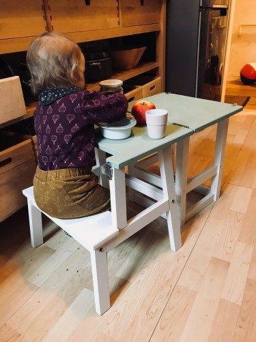 Lernturm und Kindertisch in einem – ein Ikea Hack