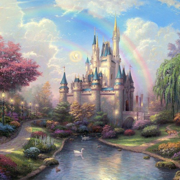 arco iris, blue sky, castelo, castle, clouds, colorful, conto de fadas, dreams, duke, fada, fairy, fairy tales, fairytales, fantasia, fantasy, forest, garden, kingdom, magia, magic, magic kingdom, paradise, peter pan, rainbow, sky, tinker bell, water