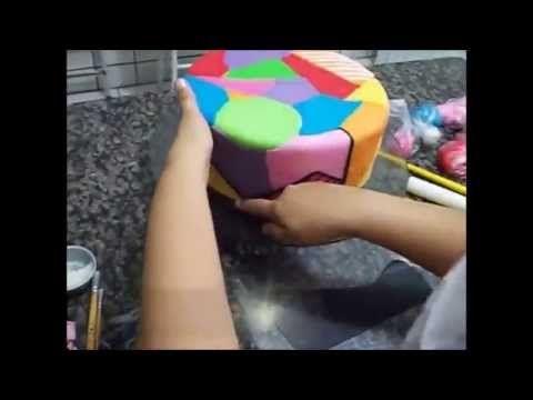 Como fazer Bolo Romero Britto - YouTube