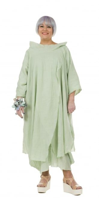 Yiannis Karitsiotis Striking Pistachio Crossover Dress
