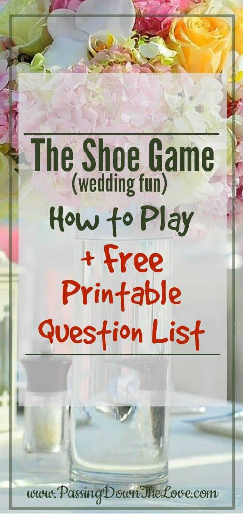 Looking for something to do at your rehearsal dinner? Here's an idea - Instructions and questions to ask for a
