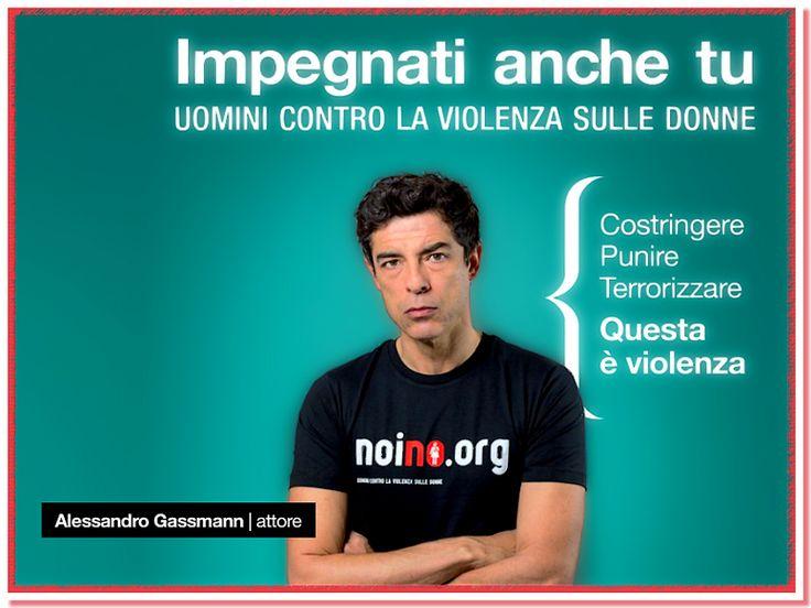 Uomini contro la violenza sulle donne.