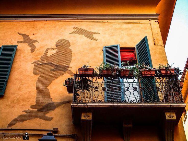 #Bologna #Italy #balcony #art #wall #creative #shareculture