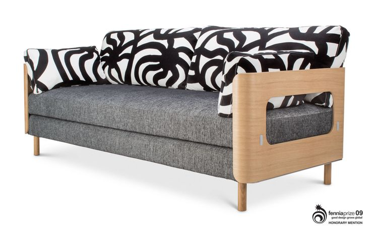 ON sofa bed - You can make one double bed or two single beds. Inside the armrest pillows you can find duvets.