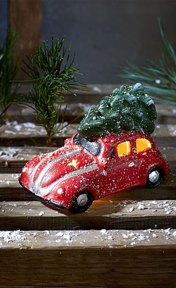 Denne julepynt bil er perfekt, hvis du ønsker lidt indendørs julelys.