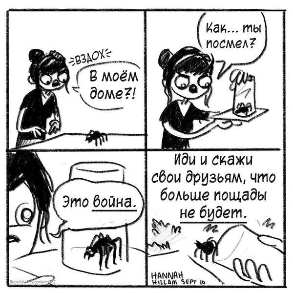 Ханна против пауков Комиксы, паук, verbalvomits
