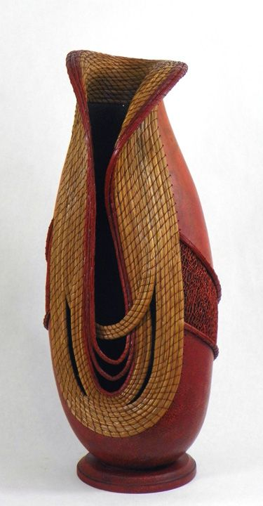 Red Majesty - 1st Place Contemporary 2012 Southwest   Fine Art Gourd Show - Artist Judy Richie.