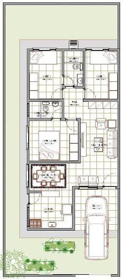 Resultado de imagen para planta de casas 80m2 com garagem