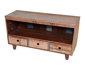 Mobile a 1 scomparto e 3 cassetti in legno di mango - 122x60x45 cm