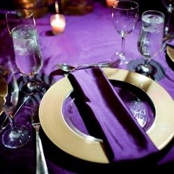Purple dinner set