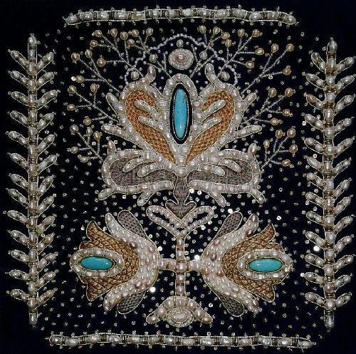 Evdokiya gold embroidery art