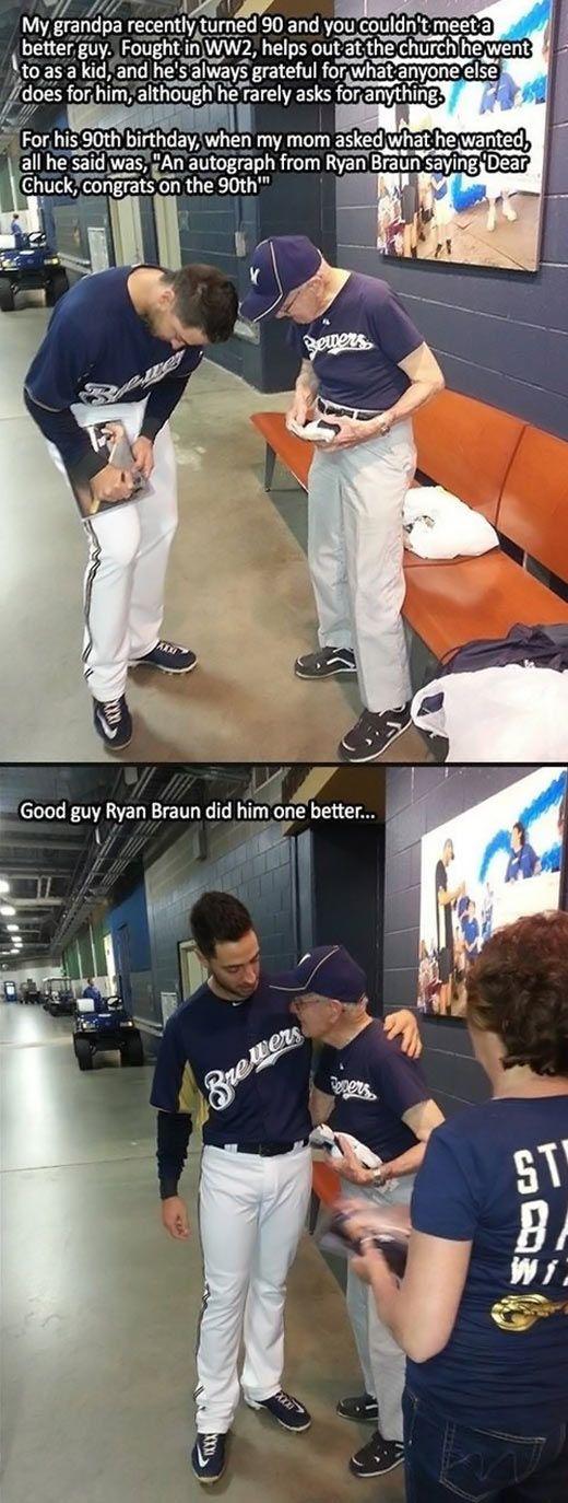 Good guy Ryan Braun…