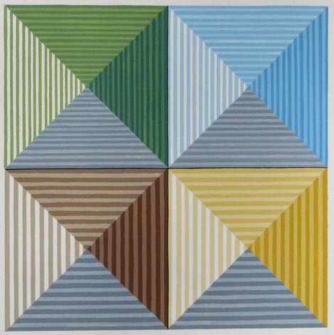 John Houseman, FOUR PYRAMIDS FROM ABOVE. on ArtStack #john-houseman #art