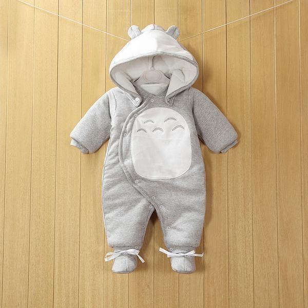 Warm detachable cotton jumpsuit