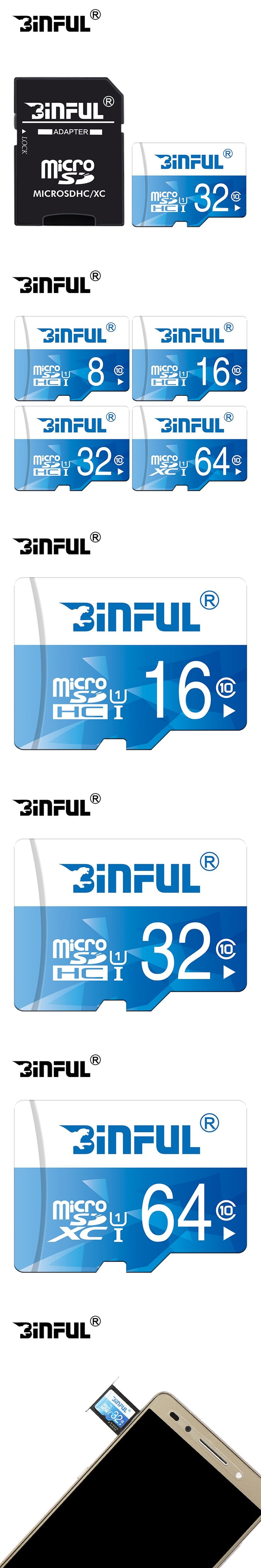 Original Memory Card C10 32GB 16GB 8GB SDHC Micro SD Card 128GB 64GB SDXC Microsd blue SD Card 4GB C6 TF Card cartao de memoria