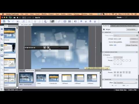 Nice selection of Adobe Captivate tutorials