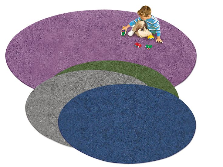 Charcoal Round Carpet 6