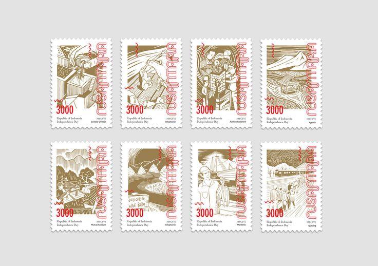 Nusantara Indonesian Wine, Stamps, Postcards, and Cards — The Dieline - Branding…