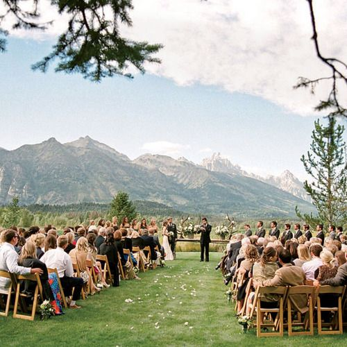 mountain wedding: Outdoor Wedding, Dreams Wedding, Get Married, Wedding Backdrops, Wedding Locations, Jackson Hole, Destinations Wedding, Mountain Wedding, Future Wedding