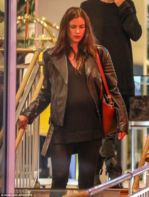 Ready to pop?: She'd been spotted early in February looking rather pregnant as she shopped on Melrose Avenue in the West Hollywood area of Los Angeles