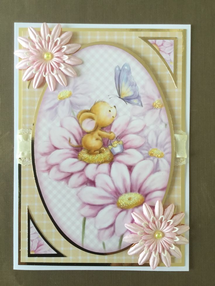 Another card using the Hunkydory whopper topper cute and cuddly pad.