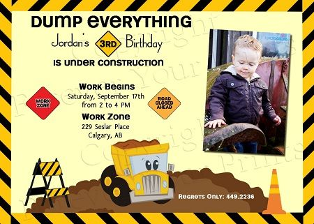 17 Best images about tonka party – Tonka Birthday Invitations