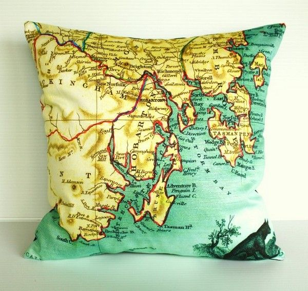 Map Cushions by My Bearded Pigeon2 for my dorm room!