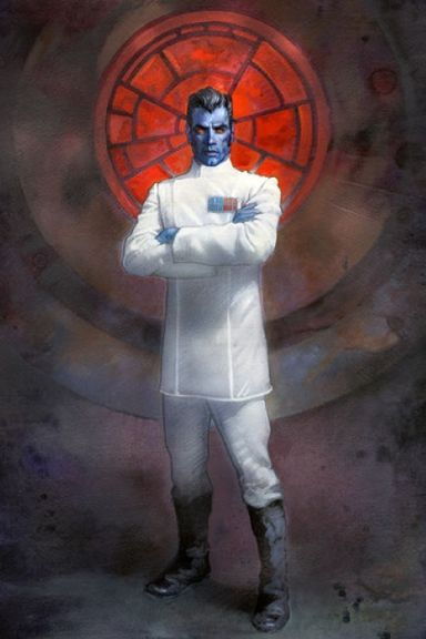 Grand Admiral Thrawn - The antagonist in Timothy Zahn's Thrawn Trilogy.