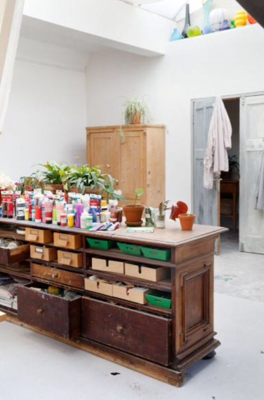 """This organised atelier is from our feature """"Loft of her Life"""""""