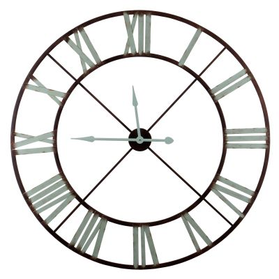 Large Transparent Roman Numerals Round Clock