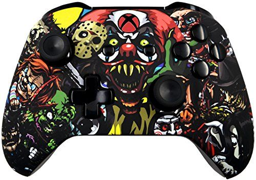 Scary Party 5000 Modded Xbox One Controller for all Shooter Games including COD WWII with Soft Touch Shell - Added Grip for Longer Gaming Sessions